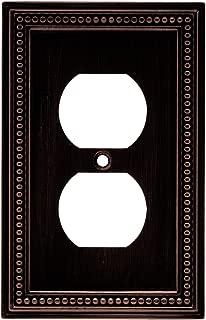 Brainerd 64410 Beaded Single Duplex Outlet Wall Plate / Switch Plate / Cover, Venetian Bronze