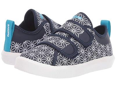 Native Kids Shoes Monaco HL Canvas (Toddler/Little Kid) (Regatta Blue/Shell White/Asanoha) Kid