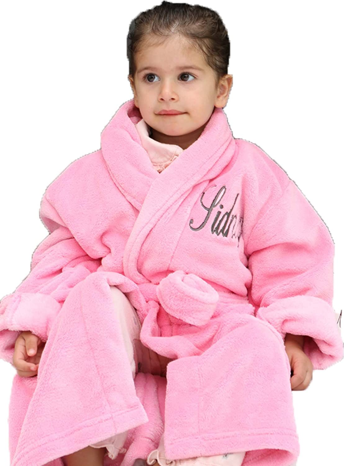 Wrapped In A Cloud Signature Bathrobe Pink Spring new work Plush Elegant Childrens -