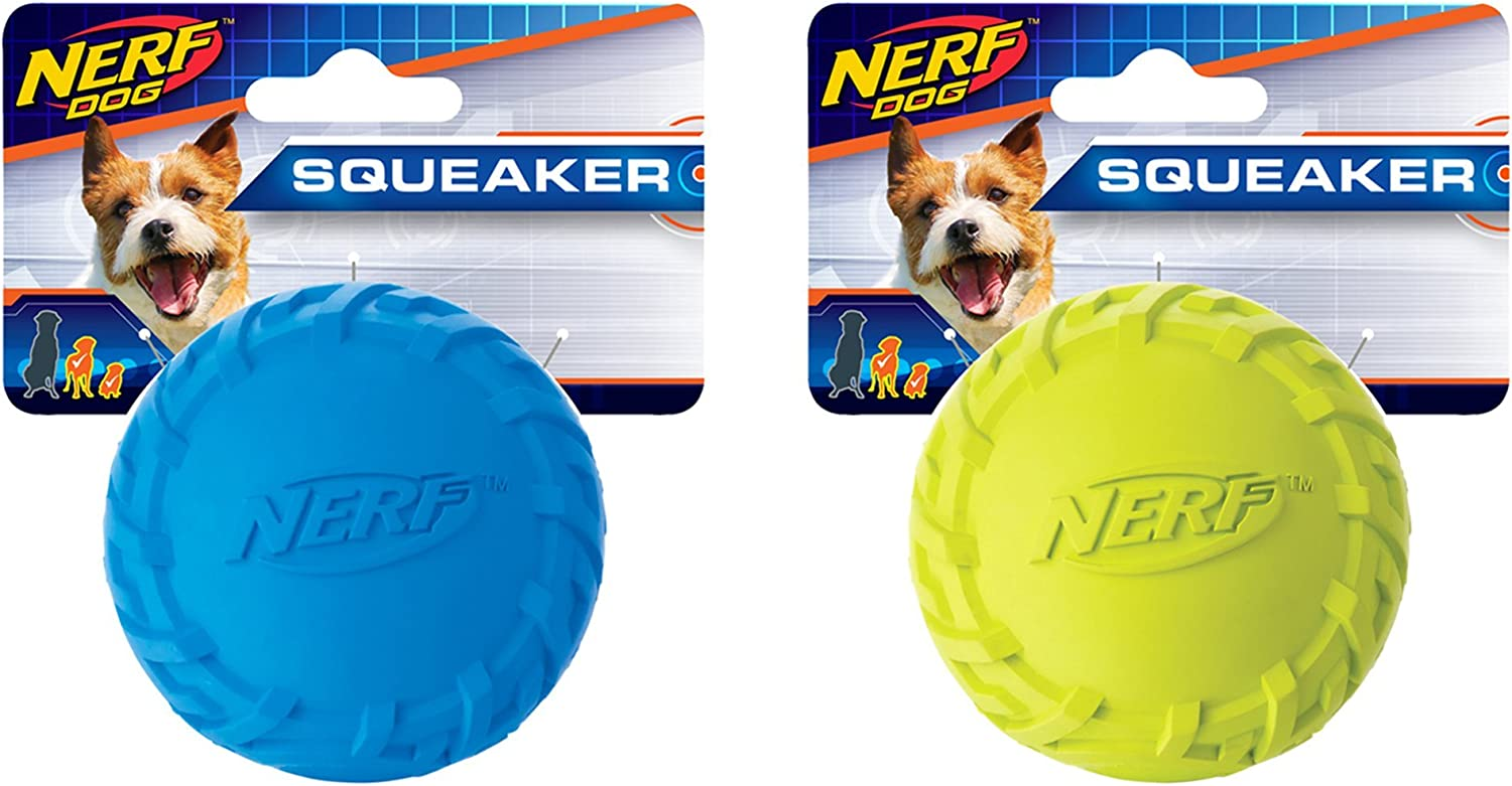 Nerf Sales of SALE items from new works Dog Tire Ball Toys OFFicial site Lightweig with Interactive Squeaker