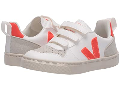 VEJA Kids V-10 (Toddler) (White/Orange Fluo) Kid