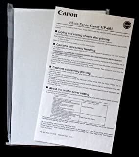 CANON WIDE FORMAT 8649B001 GP-601 Glossy Photo Paper, 4 x 6, 56 lb, 50 Sheets/Pack