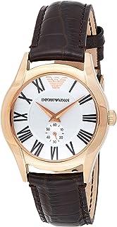 Emporio Armani Womens Quartz Watch, Chronograph Display and Leather Strap AR0678