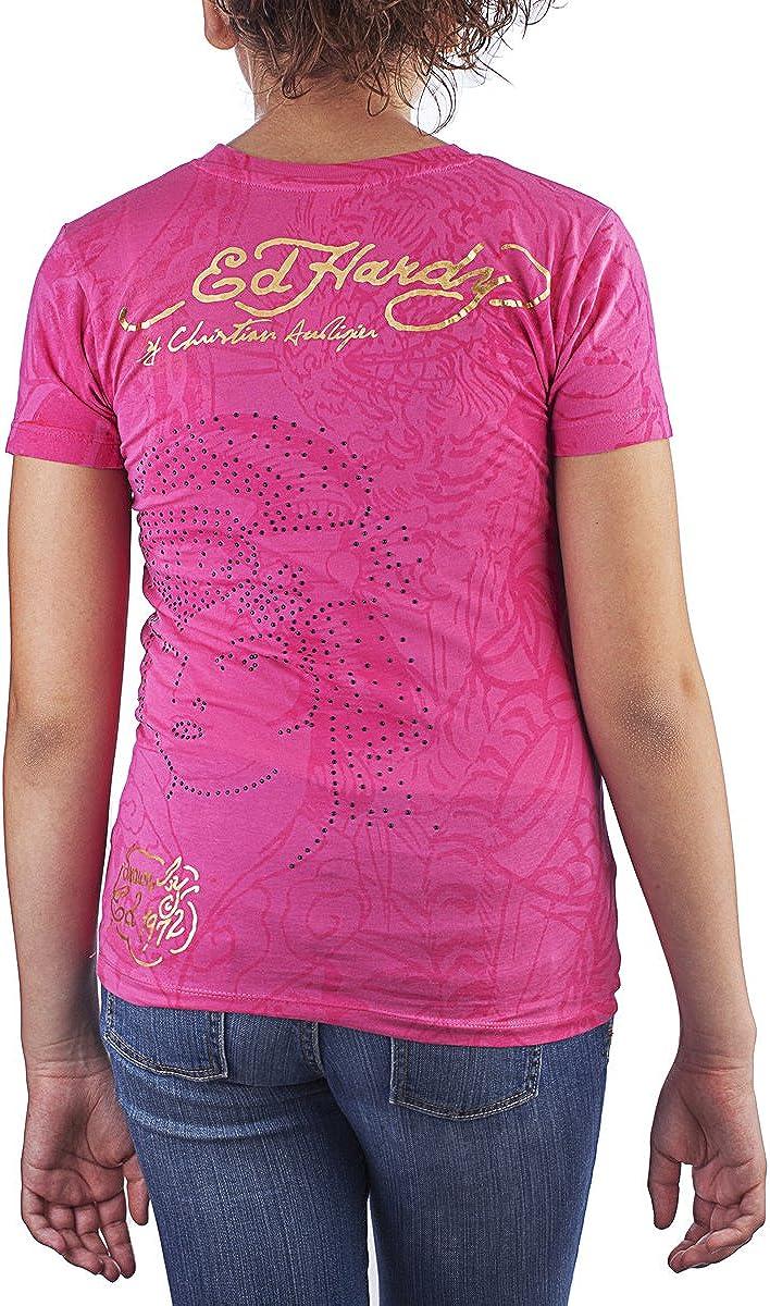 Ed Hardy Girls Screen Print T-Shirt: Clothing