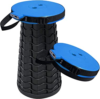 ZZDLXJ Telescopic Stool, Built in Mobile Charger, Be Made Up of Engineering Plastics, Bearing Capacity Up to 230kg. Telescopi