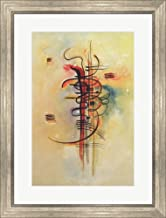 Watercolour No 326 1928 by Wassily Kandinsky Framed Art Print Wall Picture, Silver Scoop Frame, 21 x 28 inches