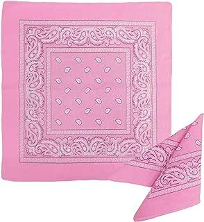 1 Dozen Paisley Bandanas 100% Cotton Double Sided Scarf (Many Colors) by M.H.I.