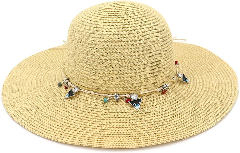 Can't be satisfied Beach Straw Hat Elegant Travel Wide Brim Hat Summer Visor Sun Hats Women Sun Cap
