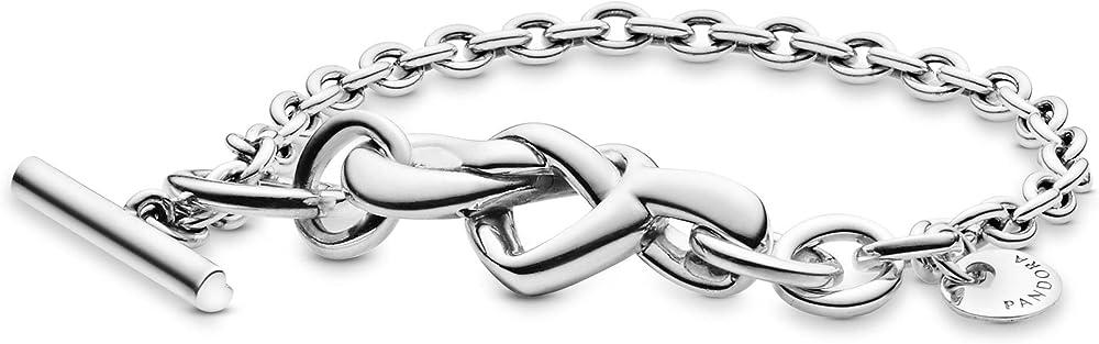 Pandora bracciale da donna con cuori intrecciati 598100-20