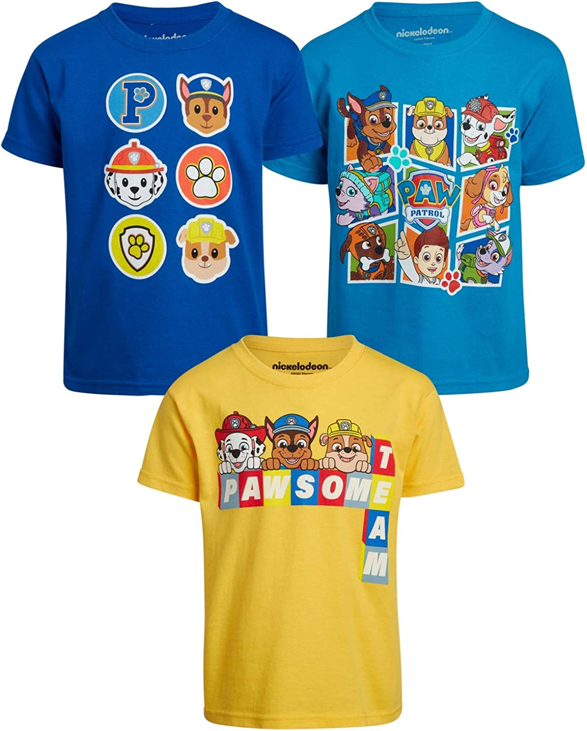 Nickelodeon Boys Paw Patrol 3 Pack Max 44% famous OFF Marshall R Chase - T-Shirts