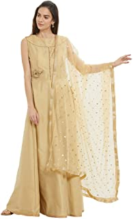 Dupatta Bazaar Woman's Embellished Net Dupatta
