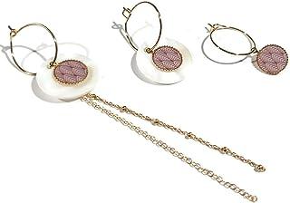 Mini orecchini a cerchio fan art deco giappone oro rosa intercambiabile ottone dorato oro 24K resina regali di natale amic...