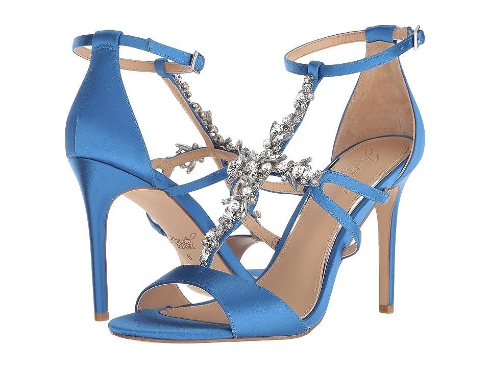 Jewel Badgley Mischka Galvin (Blue Satin) High Heels
