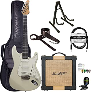 Sawtooth Classic ES60 Ash White Guitar Players Pack