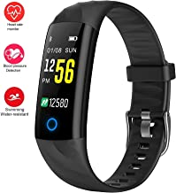 Fitness Trackers,Heart Rate Monitor Smartwatch with Aerobic Exercise Indicator,120 Feet Waterproof Pedometer Calorie Counter Smart Sport Bracelet,Smart Wristband with Sleep Monitor