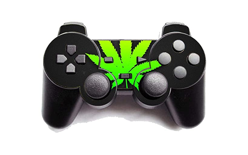 Green Weed Vinyl Skin Sticker Cover For PS2 Wireless Controller Skin For Playstation 2 Gamepad Decal Joystick Controle,4
