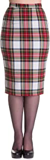 Jodie Tartan Pencil Wiggle Skirt