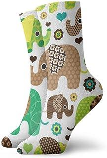 Calcetines casuales coloridos frescos - Calcetines casuales divertidos de la novedad Bohemian Elephant Boho