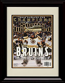Framed 2011 Boston Bruins Stanley Cup Champions Sports Illustrated Autograph Replica Print - Tim Thomas MVP