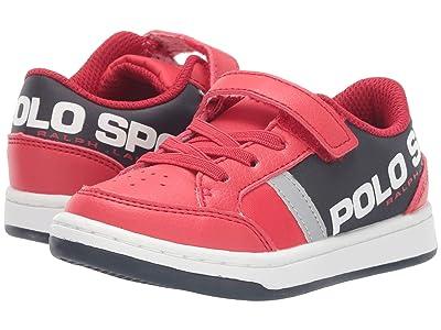 Polo Ralph Lauren Kids Belden PS (Toddler) (Red Tumbled/Black Nylon/Silver Reflective) Boy