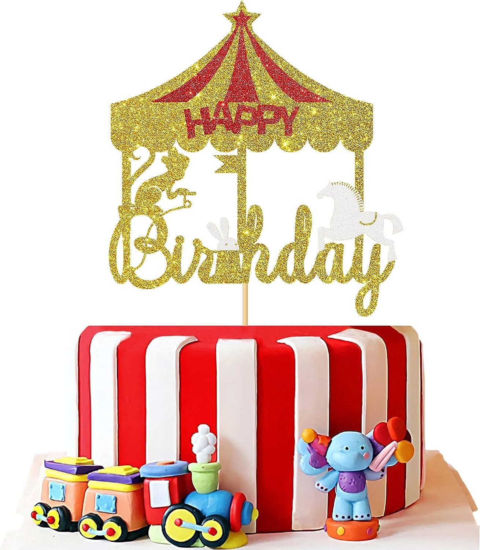 Glittered Circus Cake Picks
