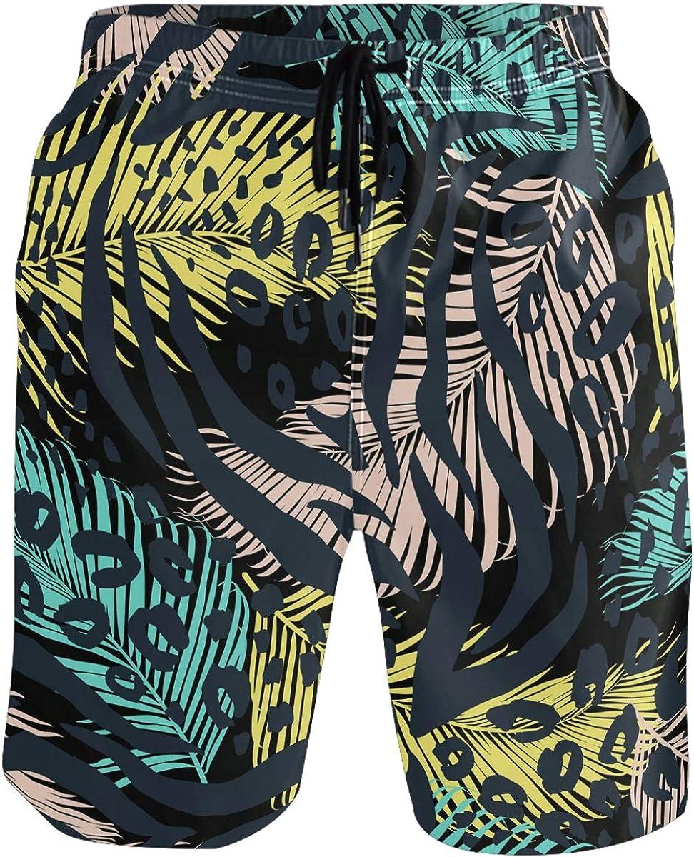 visesunny Men's Novelty Beach Shorts Quick Dry Swimwear Sports Running Swim Board Shorts Bathing Suits Mesh Lining