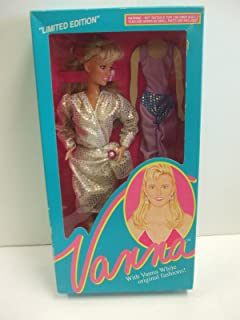 Home Shopping Club Vanna White Doll #003 Dress with Purple and Blue Unitard - Limited Edition from HSN 1990