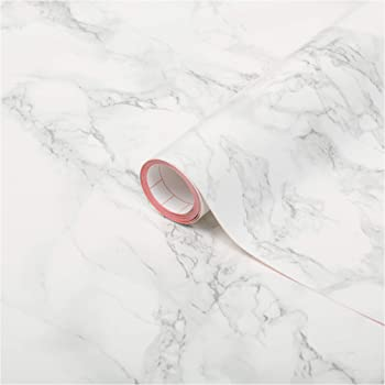 """d-c-fix self Adhesive Peel and Stick Waterproof Marble Grey 26.5'' x 78.7"""" Film Thicker Than Contact Paper for Kitchen and bathrooms countertops cabinets"""