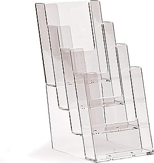 Taymar - Juego de 4 soportes para folletos (105 x 210 mm), transparente