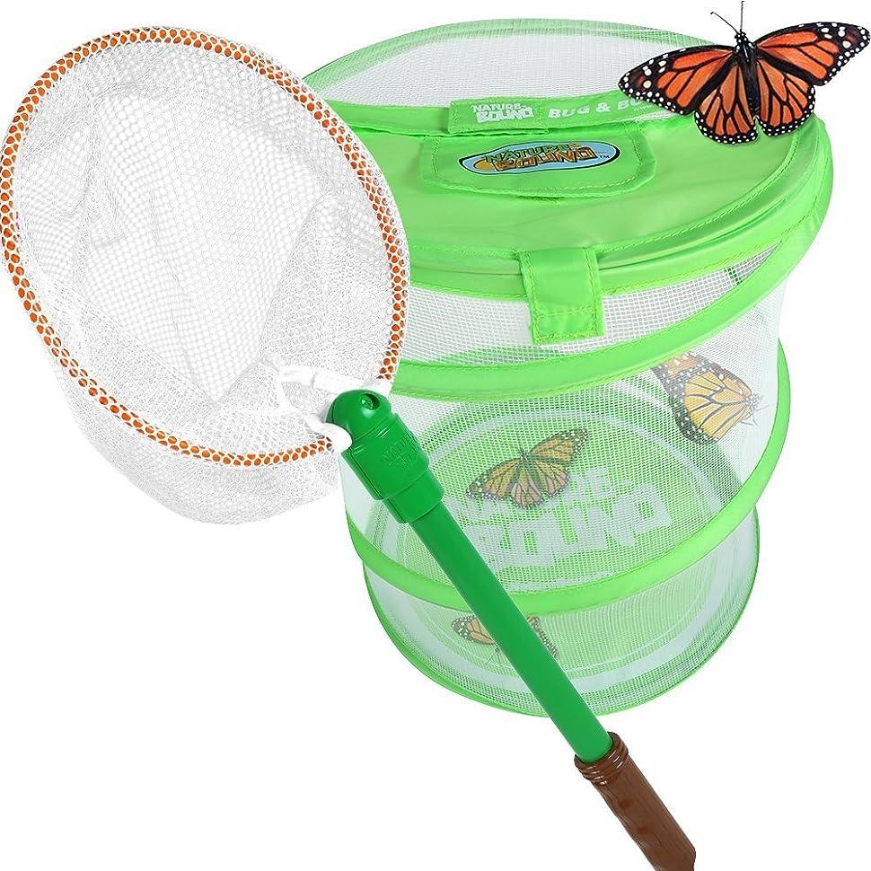 補正アセンブリ充実Nature Bound Bug Net with Live Bug and Butterfly Village Habitat Combo Set [並行輸入品]