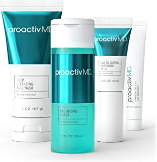 Best ProactivMD Adapalene Gel Acne Kit - Complete Retinol Moisturizer and Toner Combo Kit with Deep Cleansing and Exfoliating Acne Face Wash, Balancing Toner, Daily Oil Control with SPF 30 Review