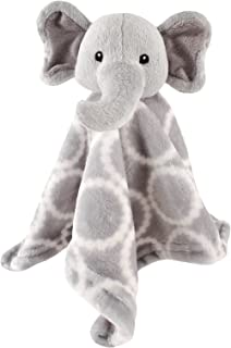 Hudson Baby Velboa Security Blanket, Gray Elephant