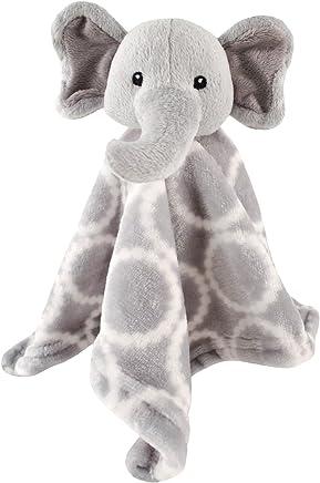 Manta de seguridad para bebé en forma de animal amigo de peluche, de Hudson Baby, Elefante gris