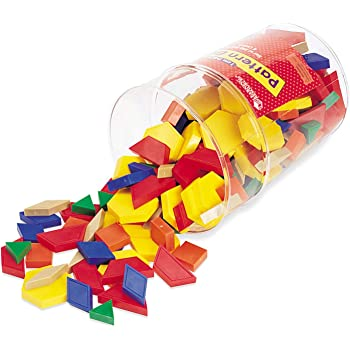 Learning Resources Pattern Blocks, 1CM, Plastic, Various Colors, Set of 250