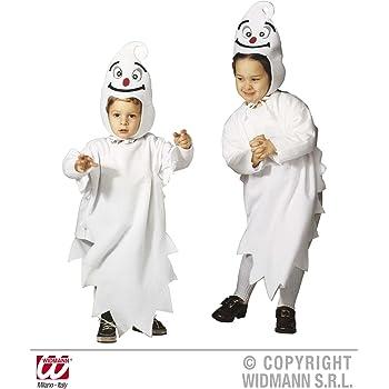 WIDMANN Disfraz de fantasma para niño o niña| ideal para Halloween ...