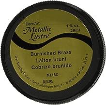 DecoArt ML18C-28 Metallic Lustre Wax Finish 1Oz-Burnished Brass