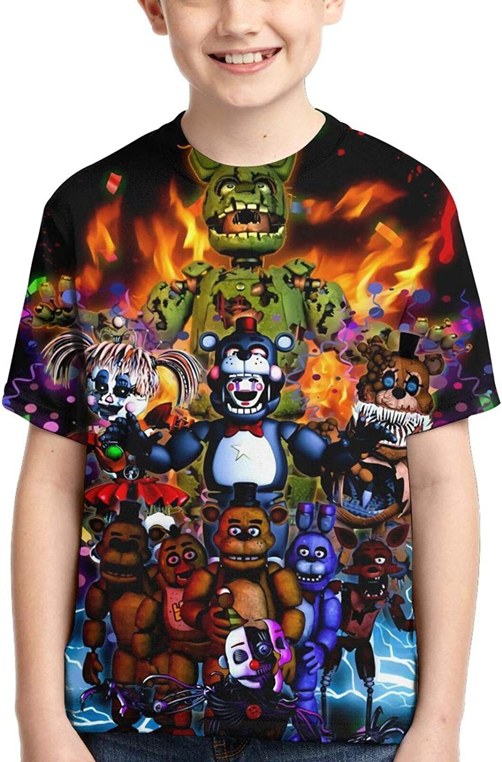 Emejate Free 5 ☆ very popular shipping Five Nights at Freddy's Youth Unisex Crewneck Shirt Bear