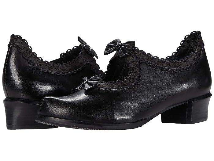 Vintage Heels, Retro Heels, Pumps, Shoes Spring Step Jezebel Black Womens Shoes $112.46 AT vintagedancer.com