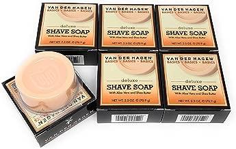 Van Der Hagen Deluxe Shave Soap, 2.5-Ounce Boxes (Pack of 6)