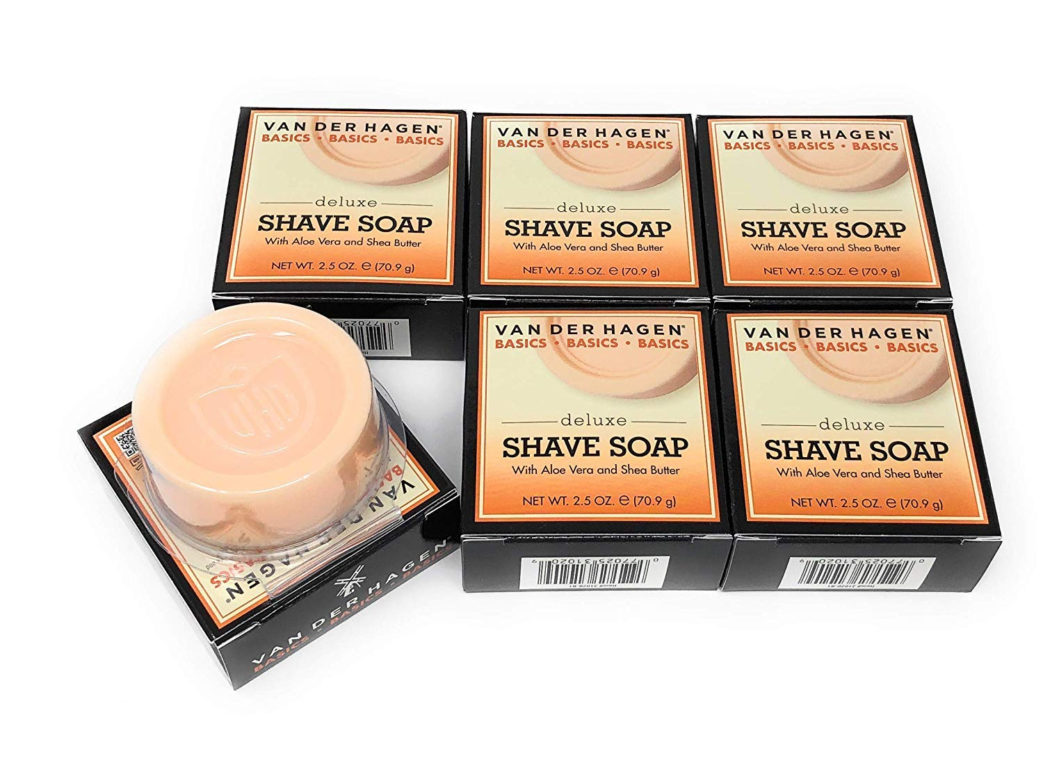 Van Manufacturer OFFicial shop Der Hagen Deluxe Shave Ranking TOP13 Soap 2.5-Ounce Pack Boxes 6 Pa of
