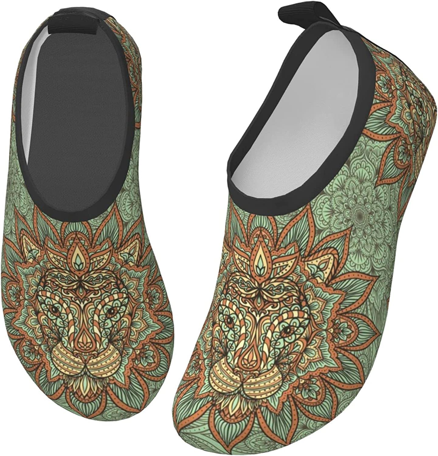 Fairy UMI Lion Pattern Toddler Water Shoes Non-Slip Aqua Sports Shoes Barefoot Swim Shoes Beach Surf for Boys Girls