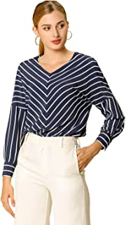 Best navy blue striped blouse Reviews