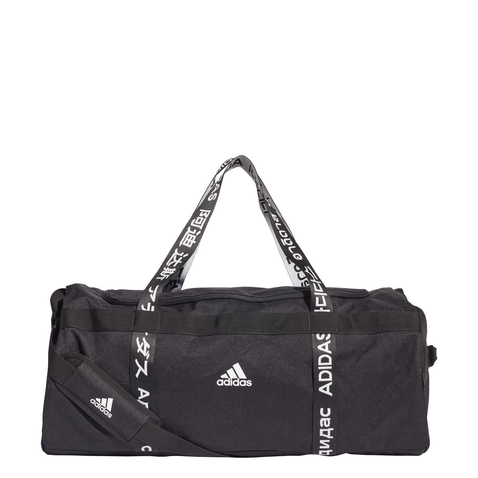 adidas 4ATHLTS DUF L Gym Bag, Black/Black/White, NS