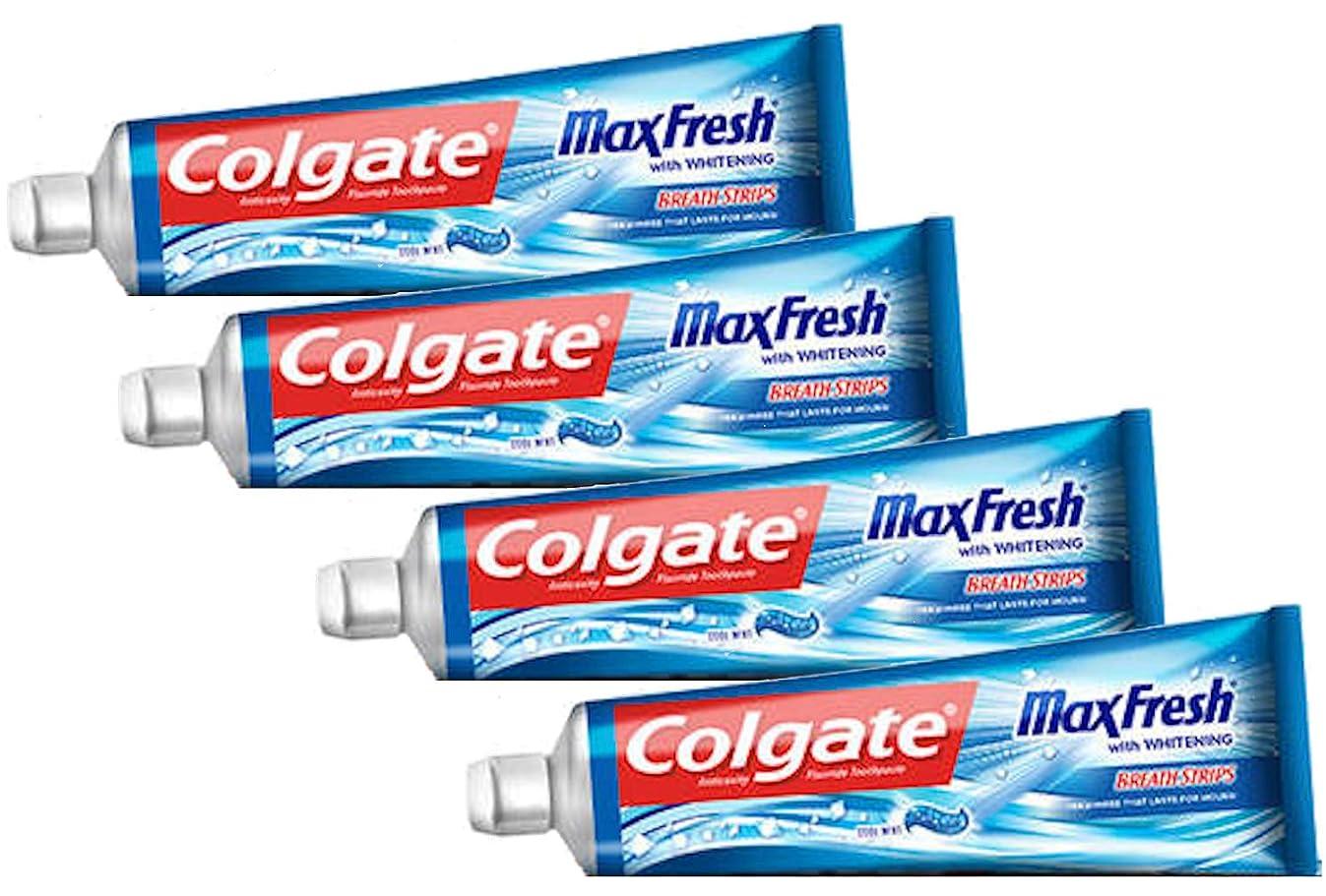 鯨カビ気難しいColgate コルゲートMaxFresh 歯磨き粉Cool Mint 221g x 4個パック