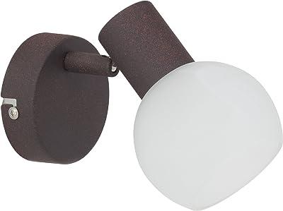 Brilliant AG 12910/20 Spot patère, Métal, E14, 40 W, Marron/Blanc/Albâtre