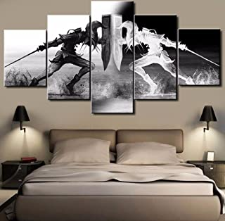 JESC Wall Art Pictures Home Decor 5 Pieces Zelda Canvas Painting Living Room HD Printed Cartoon Game Poster