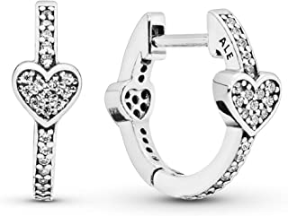 Pandora Rose Alluring Hearts Hoop Earrings