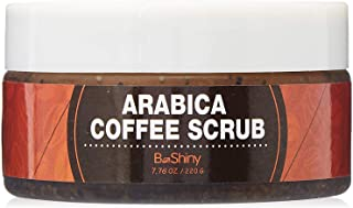 Arabica Coffee Scrub - Best Skin Exfoliator for Face Hand & Body for Skin Care Acne Eczema Exfoliate Moisturize, Stretch Marks Scar Wrinkles Spider Veins