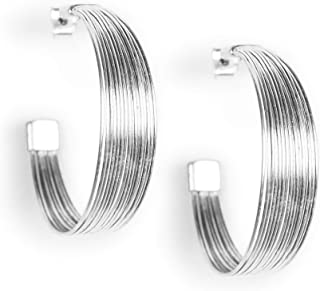 Lucky Brand Wire Hoop Earrings, Silver