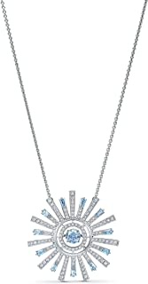 SWAROVSKI Women's Sunshine Necklace, Blue, Rhodium plated